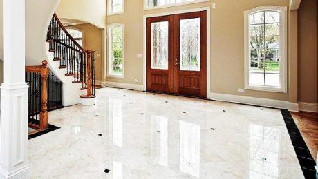 تمیز کردن سنگ کف منزل